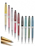 BALLPOINT PEN WITH STYLUS, LOWER BARREL WITH CRYSTAL