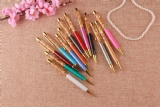crystal pen with gold trims