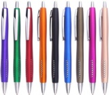 metallic finish barrel plastic pen